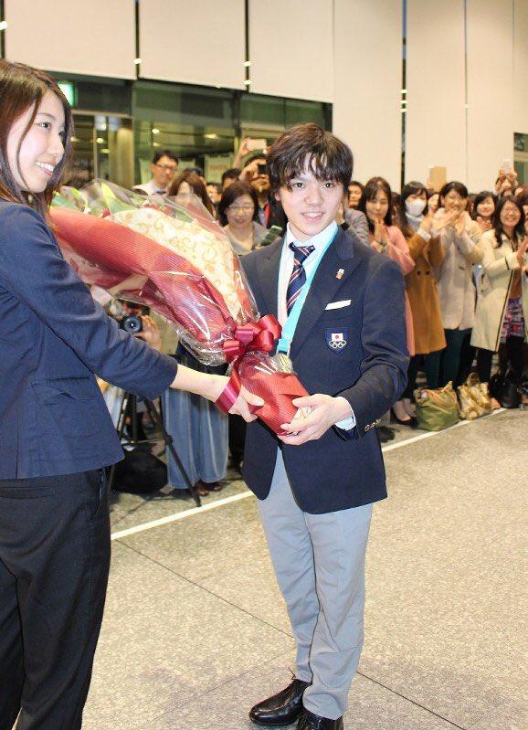 宇野選手、トヨタ本社で銀メダル報告会!「銀メダルが、自分が考えている以上に皆さんに喜んでもらっている」