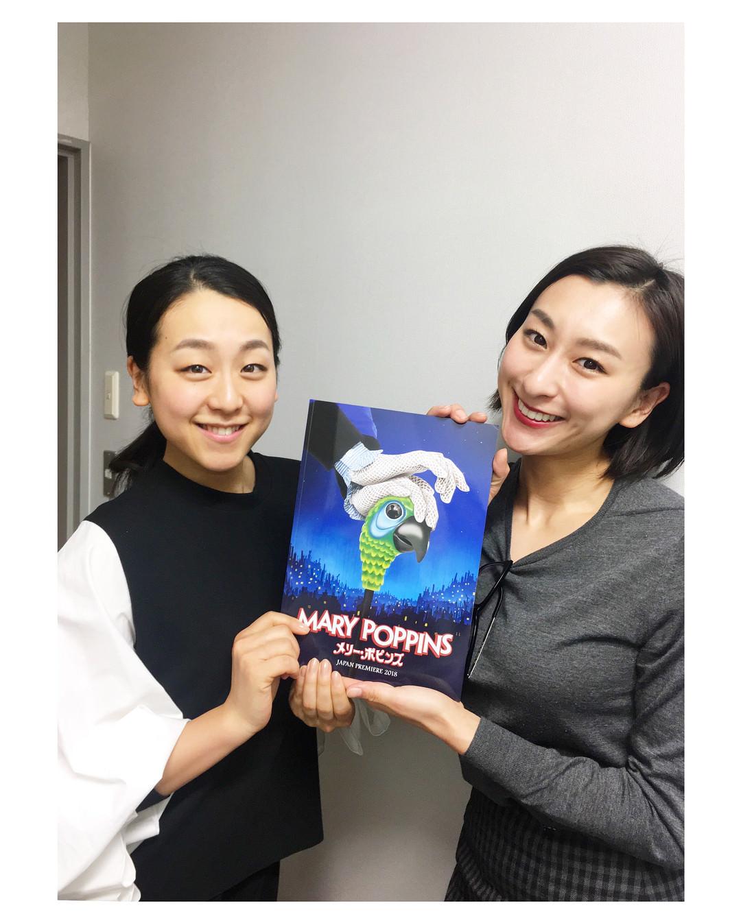浅田舞、真央姉妹がミュージカル 『メリー・ポピンズ』を観劇!