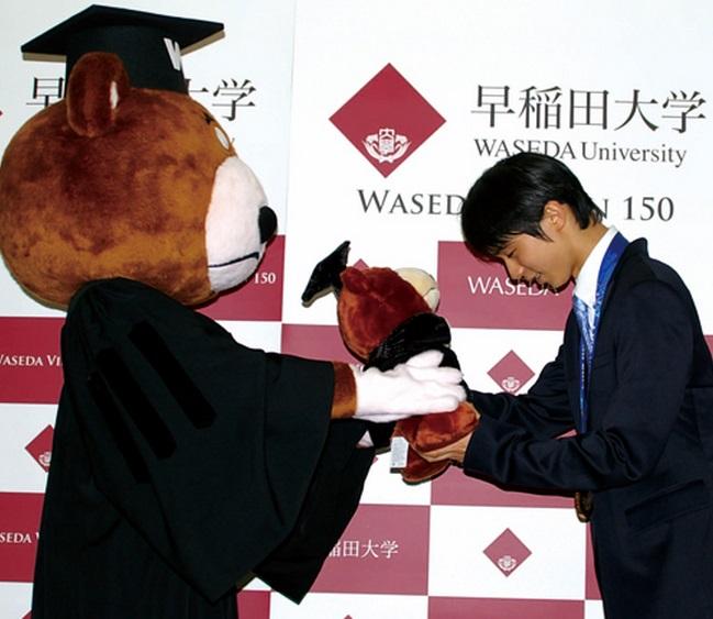 羽生結弦選手ら3人に「東京都栄誉賞」を贈呈すると発表!「羽生選手は早稲田大に在学しているため対象。」