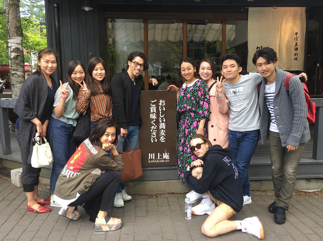 浅田真央サンクスツアーメンバーでお蕎麦を食べに!インスタ投稿!