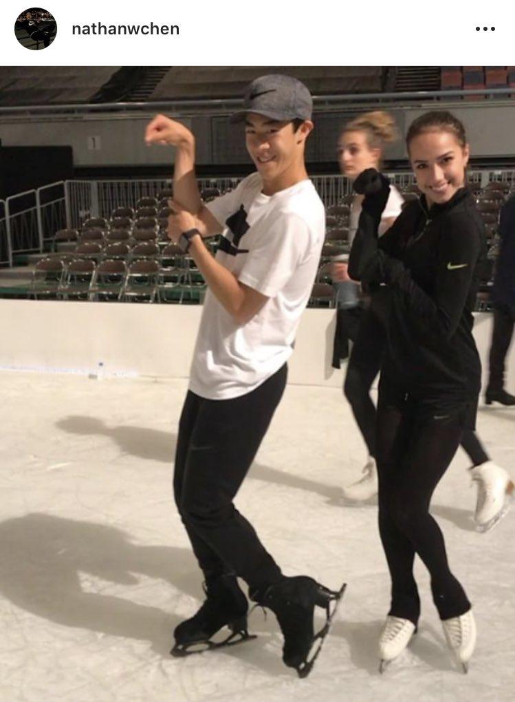 ネイサンとザギトワ がマサルポーズで動画を公開!2人共可愛