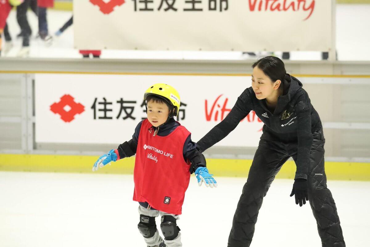 スケート初心者でも浅田真央さんの指導で滑れるように。姉妹で埼玉でイベント参加!