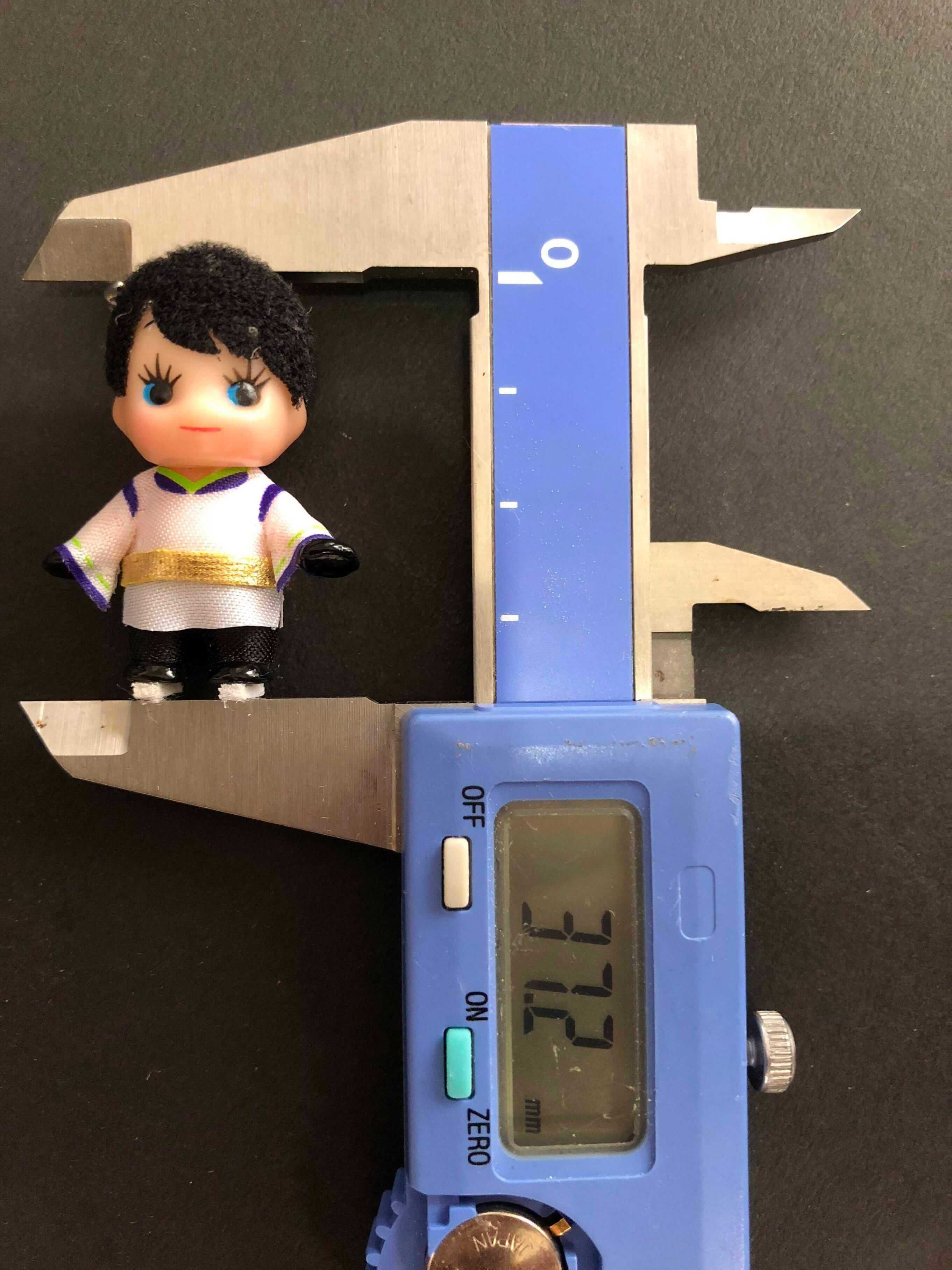 はにゅーピーのサイズを測って見た!→ノギスだwwww