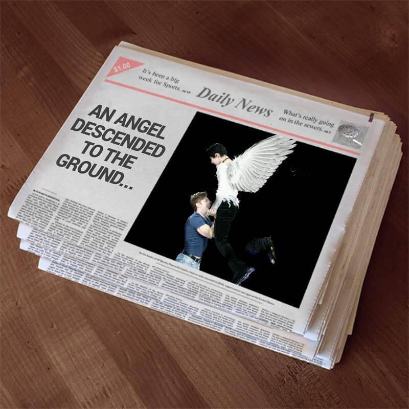 【羽生結弦】この新聞欲しかった、、、コラだけどw→本当にこんな新聞あったら頑張ってゲットするw