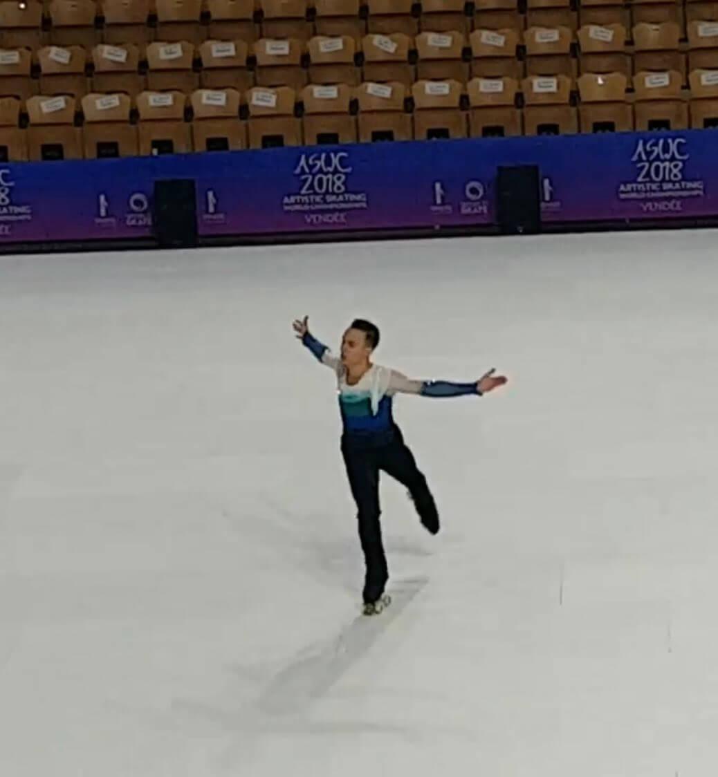 フランスで開催されてるローラースケートのワールドカップにホプレガさんが!