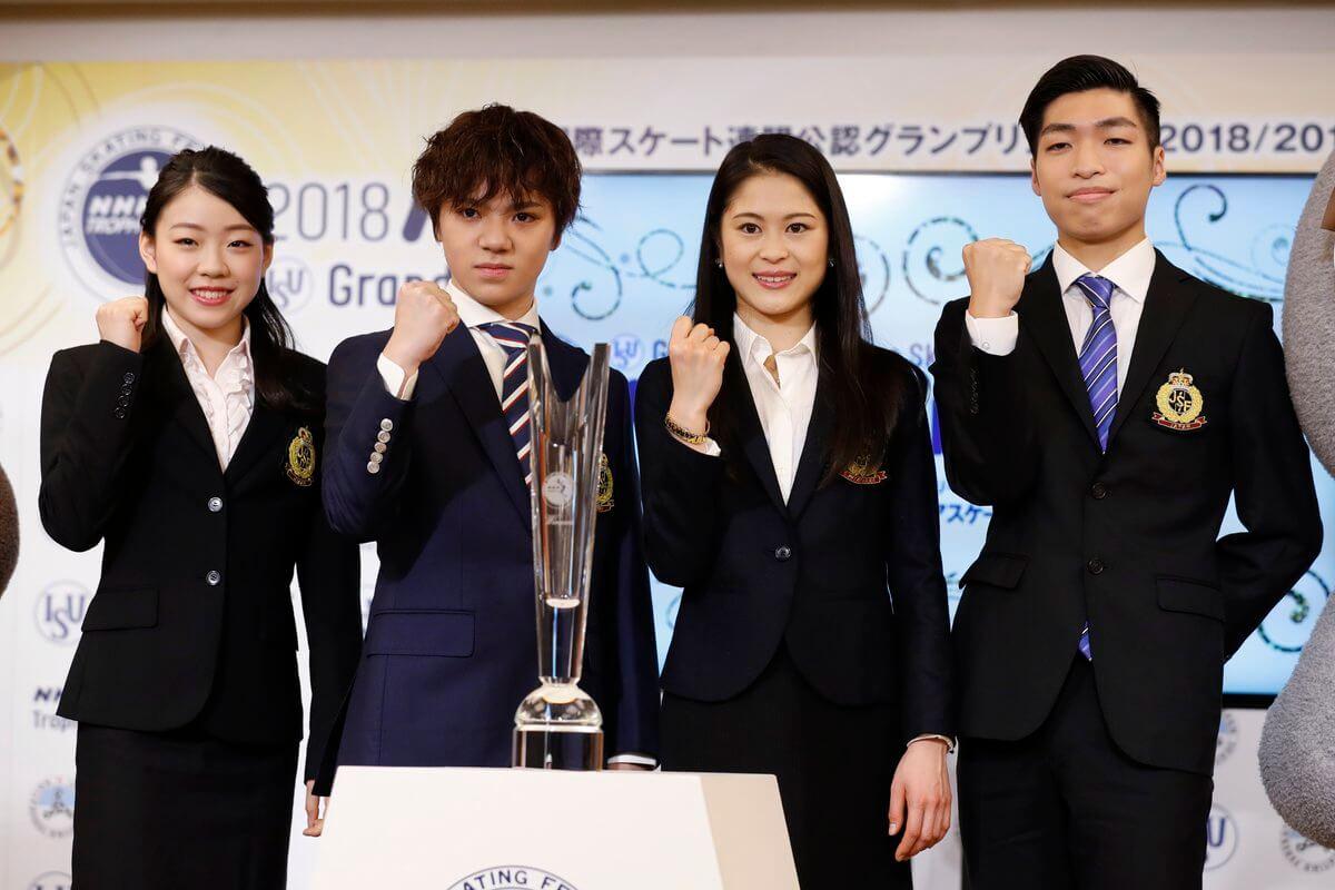 【NHK杯会見】宇野昌磨、今日復帰の高橋大輔と「同じ試合に出られたら楽しみ。見て学びたい」