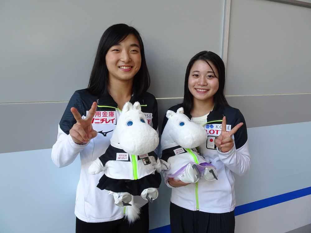 坂本花織と白岩優奈がジャパンジャスムーミン持った2ショットが可愛すぎると話題に!