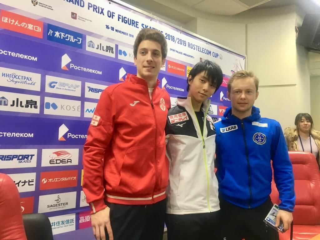 ロシア杯 フィギュア男子 FS(フリー) 結果速報専用ページ