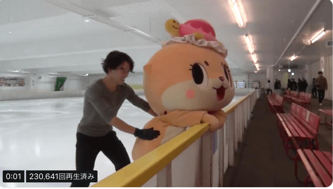 ちぃたん☆が無良くんにフィギュアスケートを教わる!今日のスパークで放送!