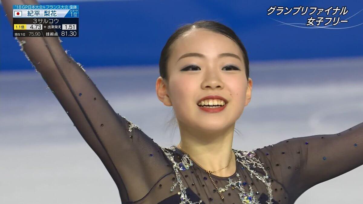 GPファイナル優勝の紀平梨花がテレビ朝日ビッグスポーツ賞に追加受賞!