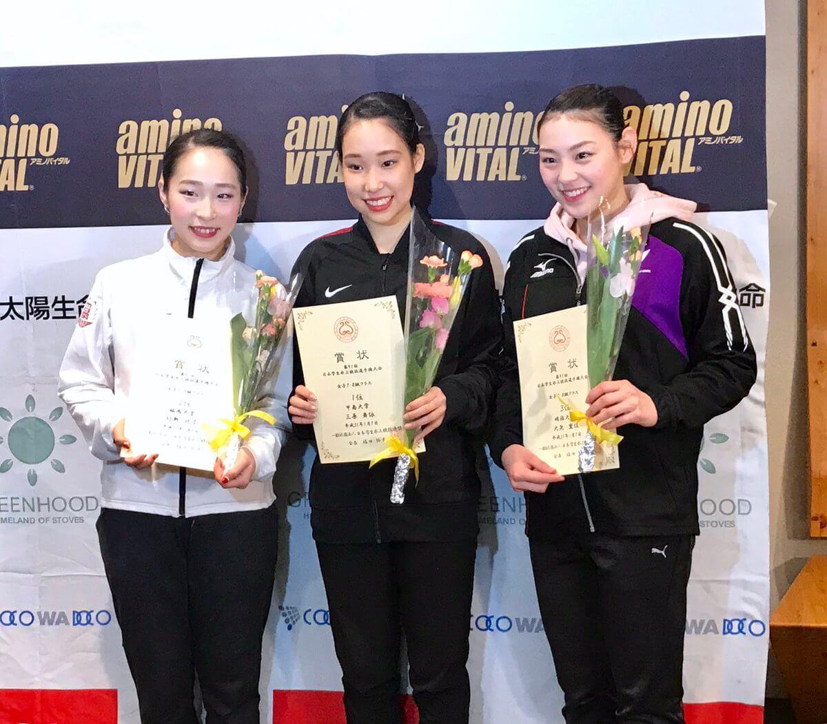 日本学生氷上競技選手権大会 女子は三原舞依が優勝!