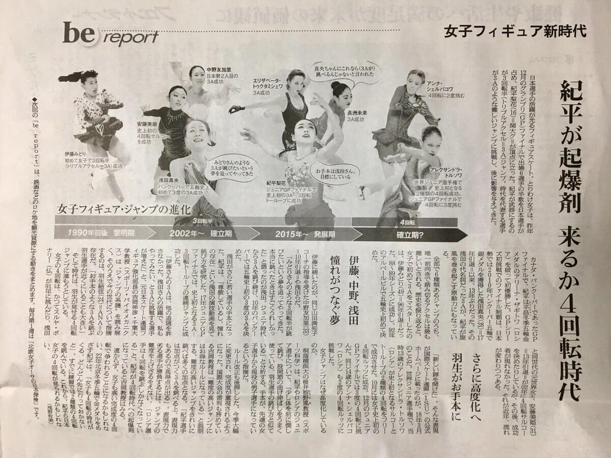 紀平梨花 4回転ジャンプについて「来シーズンには完成形に持っていけるようにしたい」