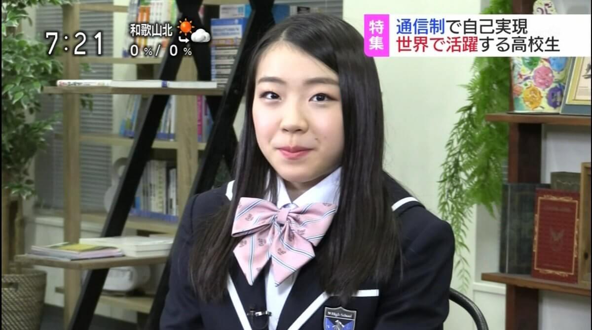 紀平梨花がNHKの取材で制服姿を披露!新鮮で可愛い!!