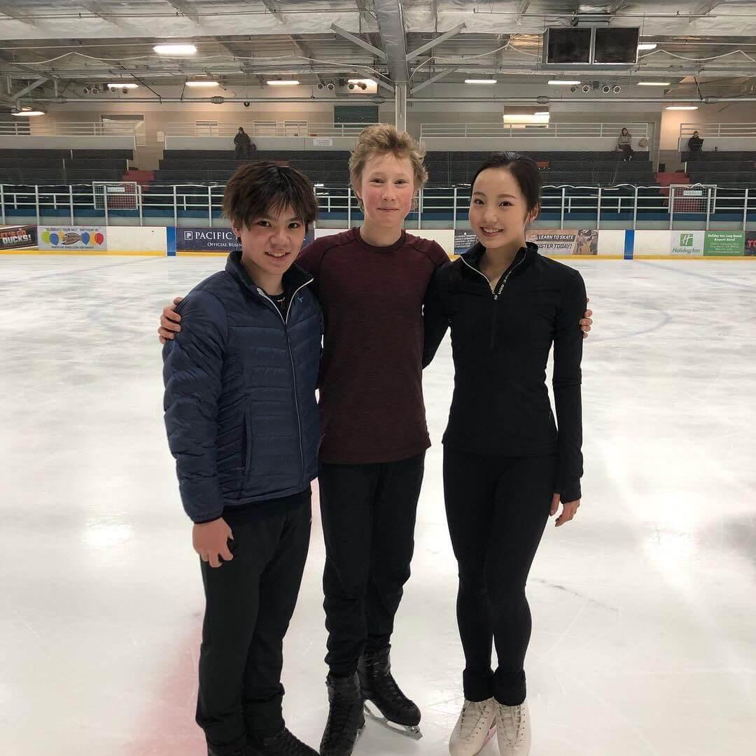 宇野昌磨と本田真凜が同じ場所で練習をしている!一緒に写真も撮ってる!!