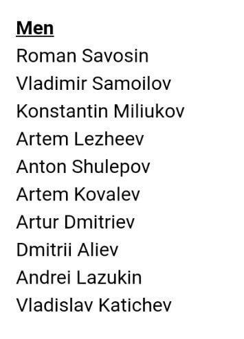 ロシアカップファイナル、エントリー公開!これでワールドの3枠目が決まるね!