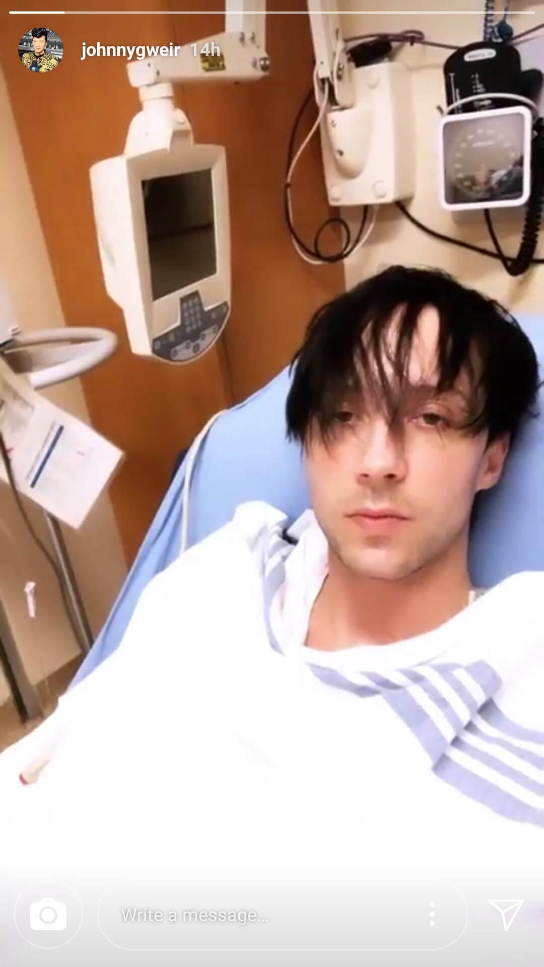 ジョニー・ウィアが入院してて世界選手権には来れてない模様!大丈夫かな?