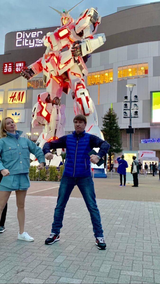 ヤグディンが日本に!お台場での写真をアップ!