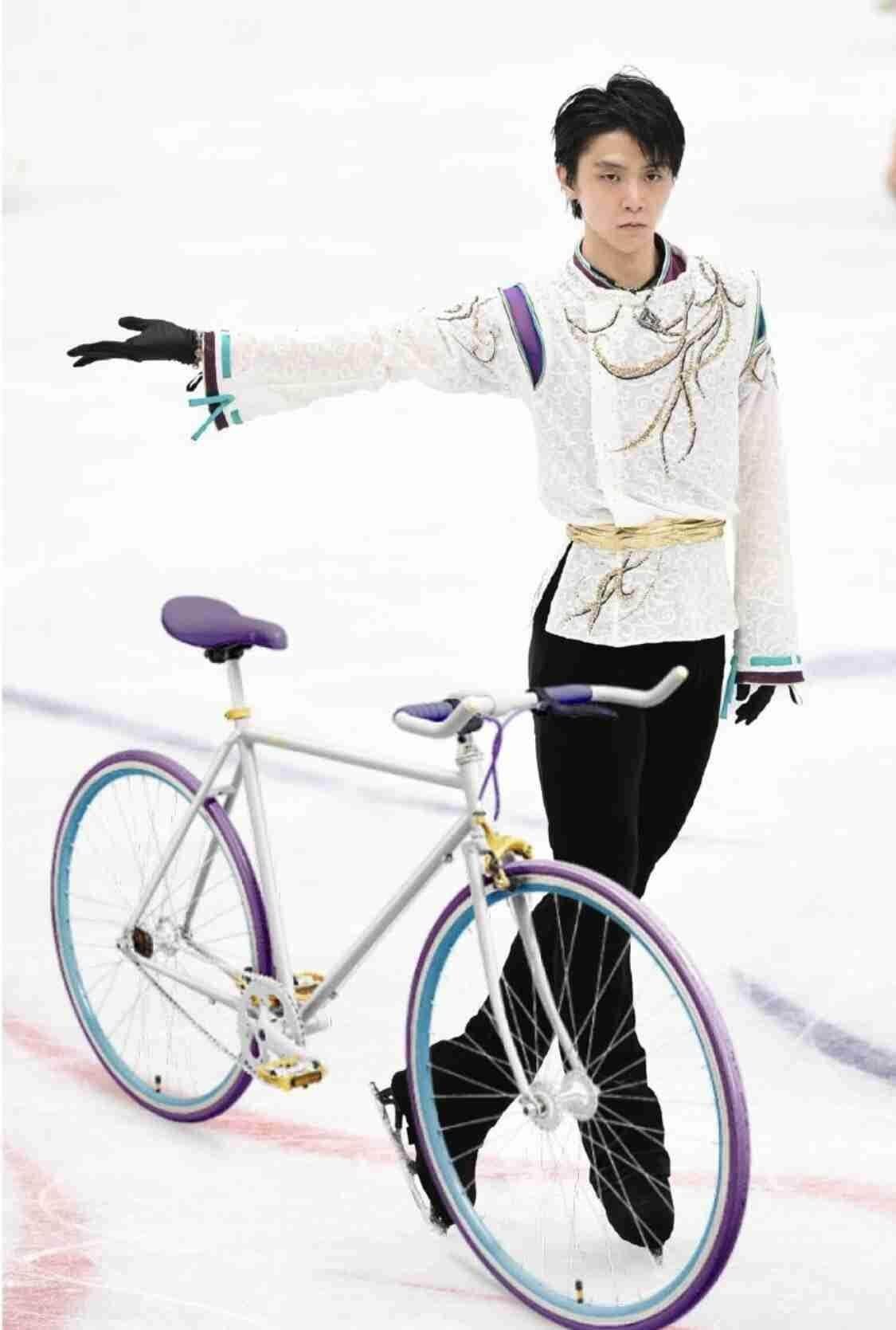 落ち着きたい時は、自転車練習する羽生を想像すると、落ち着くぞ!w