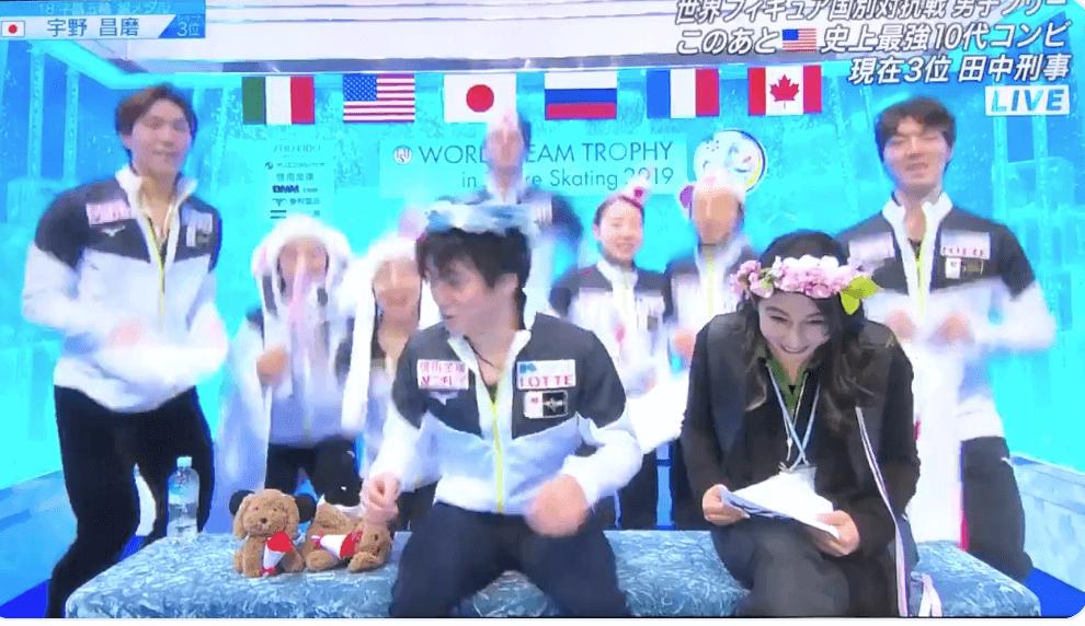 【動画有】宇野昌磨のキスクラでダチョウ倶楽部をしてると話題にwww