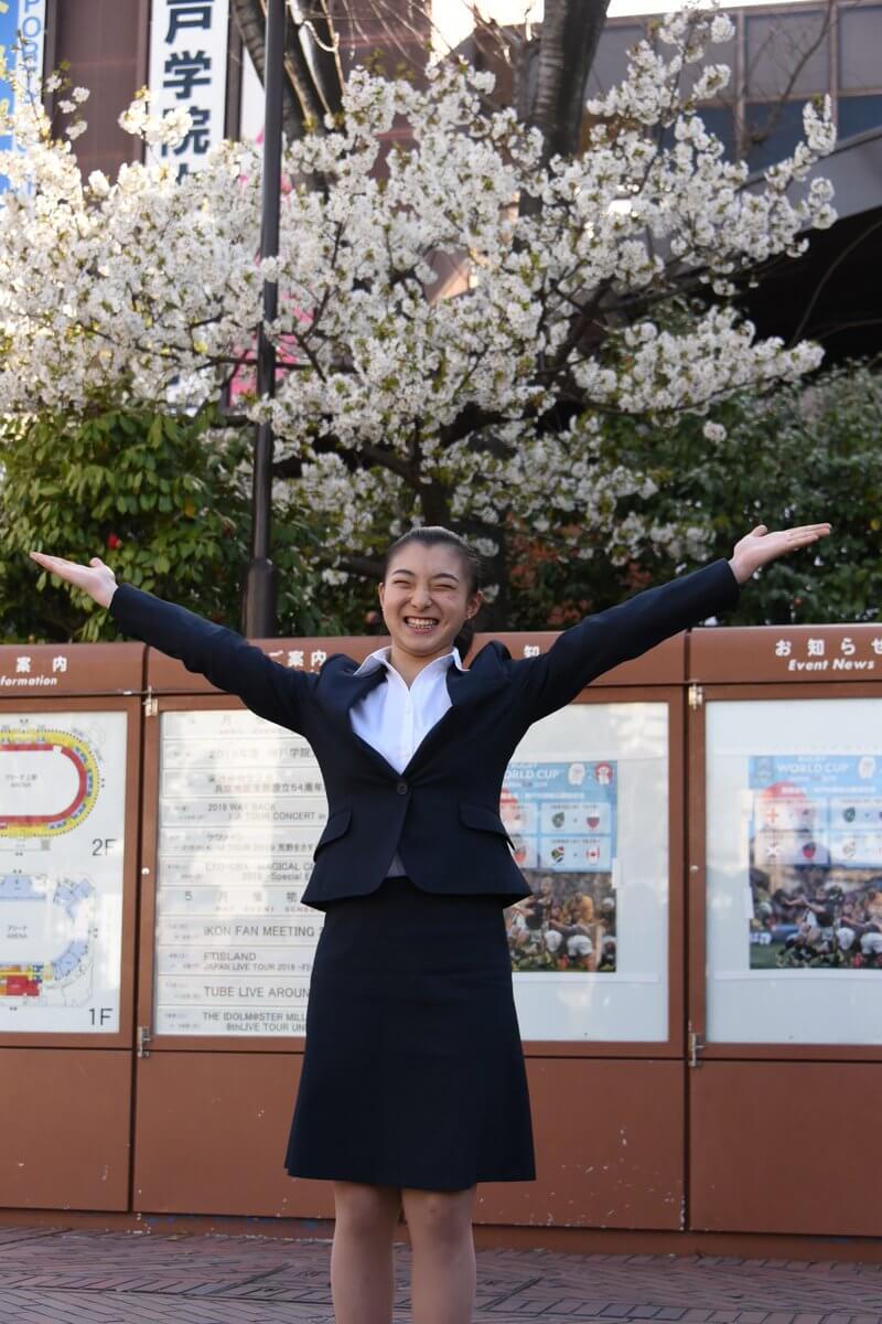 坂本花織が神戸学院大入学式に出席!「大学は不安だらけ。スポーツ系の授業を取って勉強したい」