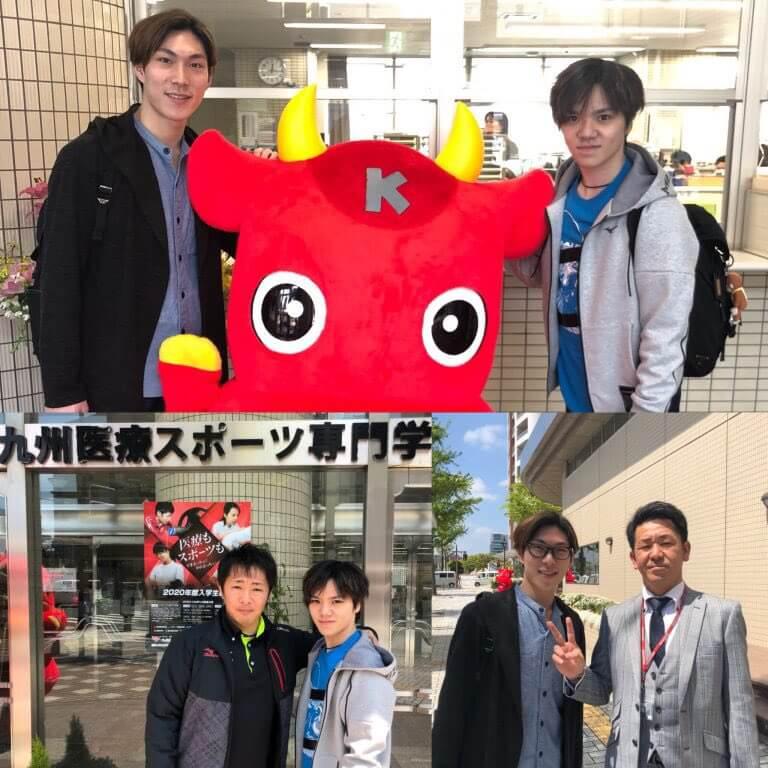 宇野昌磨と田中刑事が国際学園グループの学校に訪問!