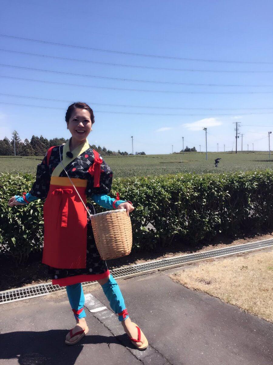 今日のスタイルプラスで鈴木明子が旅ロケ!お茶摘み娘の鈴木明子が可愛いと話題に!