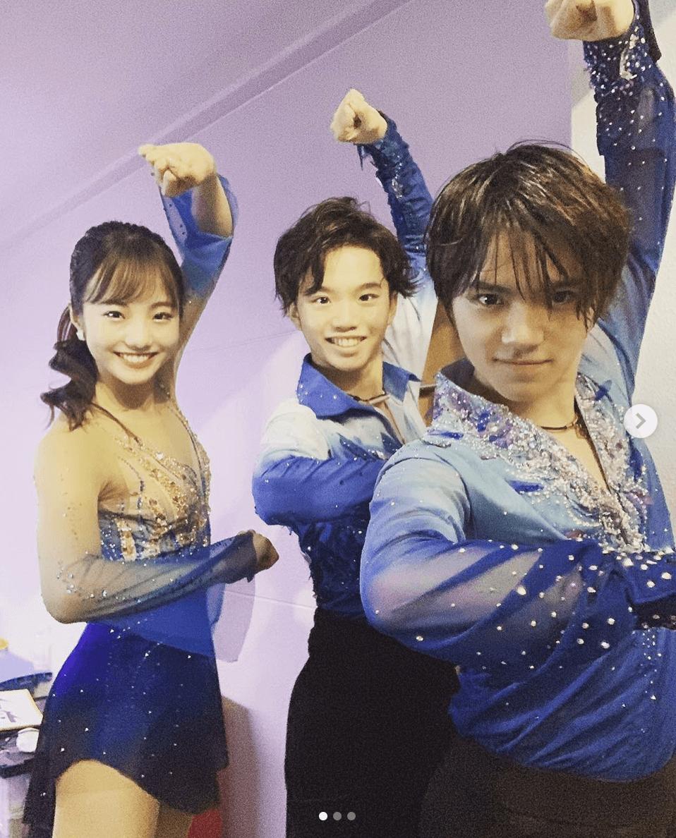 【画像まとめ】友野一希、本田真凜、宇野昌磨の楽しそうな3ショット写真が多数アップされる!