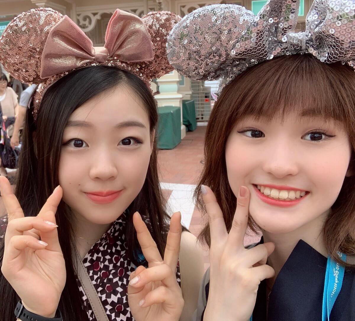 紀平梨花の姉が2人でディズニーランドで遊ぶ姿を公開!