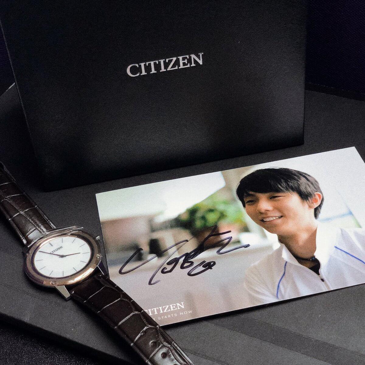 CITIZEN腕時計……羽生結弦のサインにオマケで時計がついてくる!?www