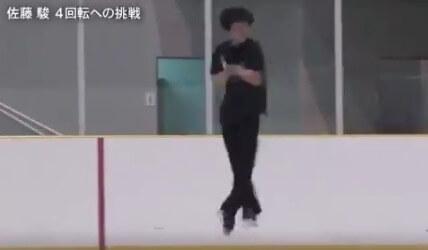 【映像あり】佐藤駿 4回転への挑戦! 4S…4T…4Lo…4Lz…!