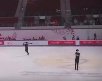 【映像あり】GPS中国杯2019 田中刑事の曲かけを邪魔しないように動いているボーヤン…かわいい…!