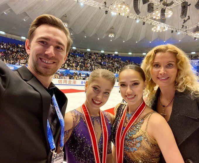 ダニイル・グレイヘンガウス 氏がインスタグラムに投稿! アリョーナ・コストルナヤ と アリーナ・ザギトワ のNHK杯 結果とGPF出場決定を祝う! ロシア連邦名誉トレーナー称号授与へのお礼も。