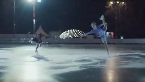 【映像あり】エリザベータ・トゥクタミシェワ と エレーナ・ラジオノワ が、日本でも公開中の映画「アナと雪の女王2」をイメージしたスケートを披露!