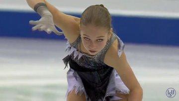 グランプリファイナル2019 女子SP アレキサンドラ・トゥルソワ 3回転半転倒し5位! 「先輩」の真価は鬼構成のフリーで。…転倒からの立て直しの速さすごい。ハイ次!みたいな。…FSで世界を破壊する気満々…