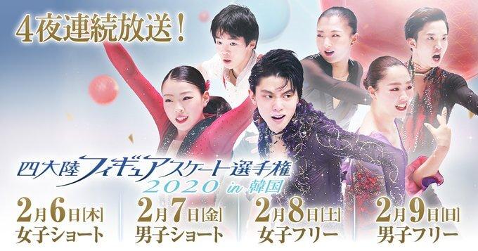 四大陸フィギアスケート選手権2020 スケジュール、チーム日本 出場選手、放送予定!