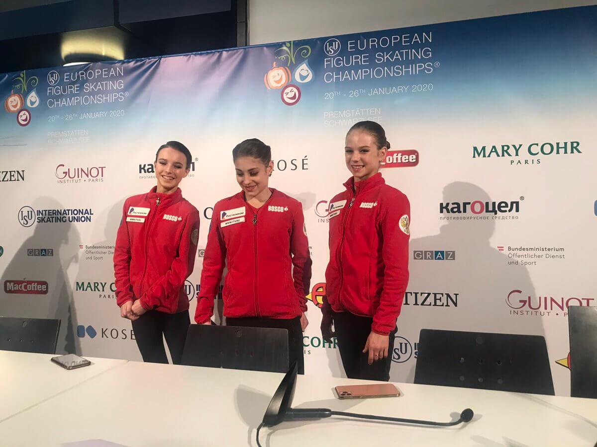 ロシア女子3選手とも「体育」は好きな科目ではない!? …欧州フィギュアスケート選手権2020 女子SP 演技後の記者会見で明らかに…