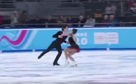 【映像あり】ローザンヌ2020 ユースオリンピック 混合団体 アイスダンス FD 吉田唄菜・西山真瑚組 がトップ!