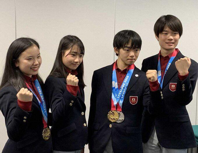女子4位の河辺愛菜「アクセルを立てたことは自信」 …ユース五輪フィギュア日本選手団が帰国…