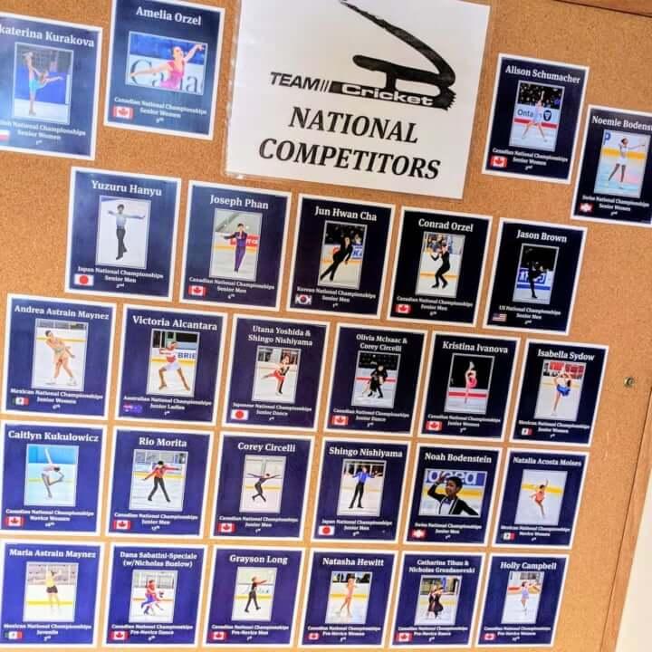 クリケット所属選手の今季ナショナル結果のボードに メドベージェワ が掲示されていない件