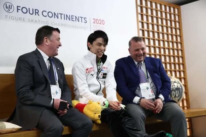 国際スケート連盟が記事を掲載!  …最高の瞬間…羽生結弦 が韓国で「ゴールデンスラム」を達成…