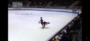 【映像有】うたしん、世界ジュニア2020 アイスダンスFD の演技を終える!