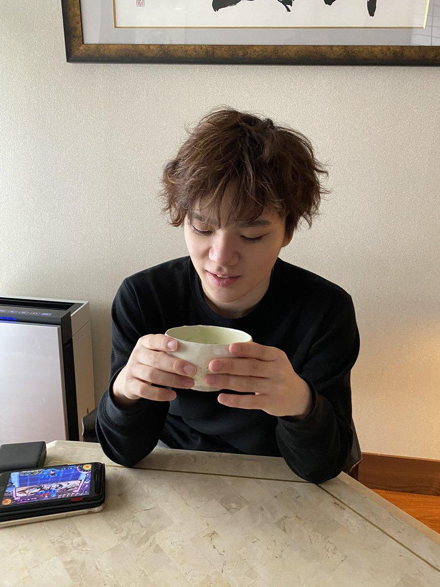 宇野昌磨のほっこり写真に反響!  …新年度は朝抹茶から!?…