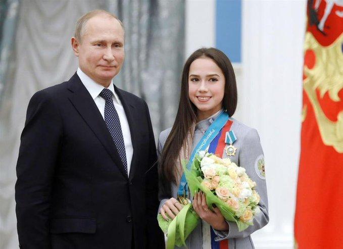 ザギトワの18歳バースデーにプーチン大統領から祝電!