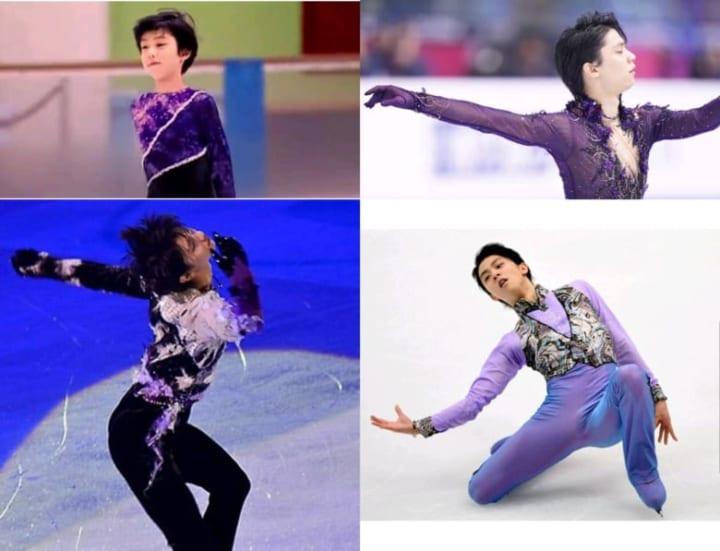 羽生紫の変遷 !  …「高貴な色がお似合い」「昔から紫との親和性あった」…