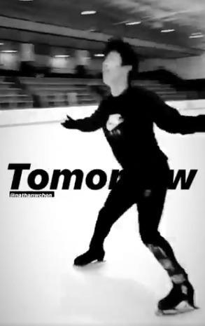【映像有】ネイサン・チェン、Rocket Manコレオにのせて!  …IG Liveの予告…日本時間5月4日(月)AM1:00〜…