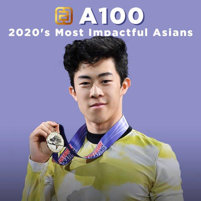 ネイサン・チェン、最も影響力のあるアジア系アメリカ人に!  …毎年5月に文化の分野で最も影響力のあるアジア系アメリカ人らをA100リストに選んで表彰しています。…