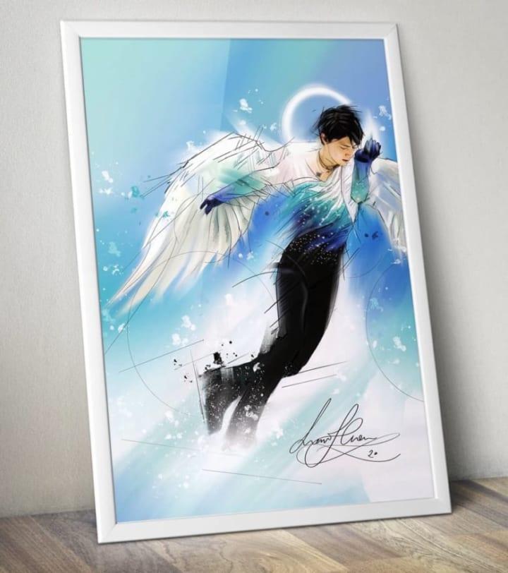 天使の翼をつけて違和感ないのは羽生しか思い浮かばない!  …「綺麗」「天使様」…