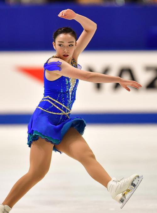 今日の一枚、18年12月、全日本フィギュアスケート選手権・女子フリーの演技を行う本郷理華!
