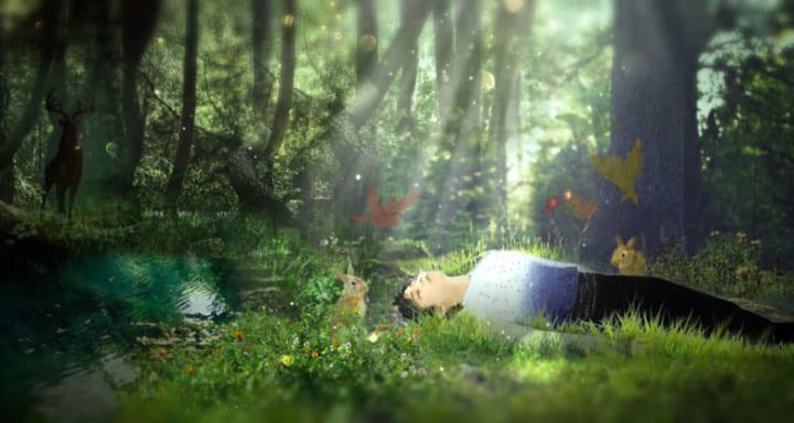 森で気絶した時も動物たちが集まってた!  …「左に森の主が…」「うさゆゆ…」…