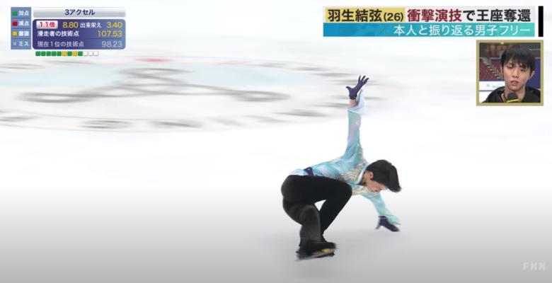 【映像有】羽生結弦、衝撃演技で王座奪還!  …全日本フィギュア 男子フリー…